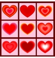 Set of icons heart vector image