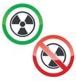 Hazard permission signs set vector image