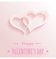 Design with hearts for valentine s day vector image