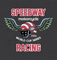 motorcycle speedway racing poster vector image