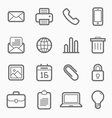 office elements symbol line icon set vector image