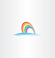 rainbow symbol icon vector image