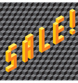 Single word Sale made of cubes vector image