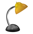Table lamp with yellow shade vector image
