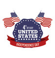 united states independence day stamp festive vector image