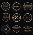 Vintage Style Badge Labels vector image