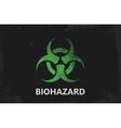 Biohazard logo design Biohazard poster Grunge vector image
