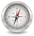 Silver compass vector image