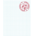 math paper with stamp vector image vector image