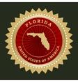 Star label Florida vector image