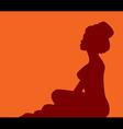woman in turban silhouette vector image