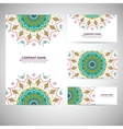 Colorful round geometric pattern in aztec style vector image vector image