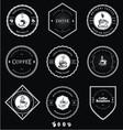 Vintage White Coffee Badges vector image