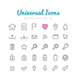 Univerasal web icons set vector image