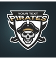 Skull pirates and swords vector image