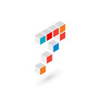 3d cube number 7 logo icon design template vector image