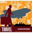 retro travel vector image vector image