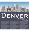 Denver Skyline with Gray Buildings Blue Sky vector image