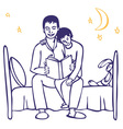 bedtime story from dad vector image