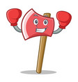 boxing axe character cartoon style vector image
