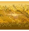 golden pixels background vector image