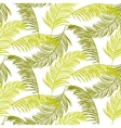 Green palm leaves seamless pattern vector image