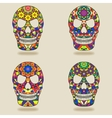 skull with kaleidoscope pattern vector image
