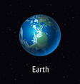 solar system object earth vector image