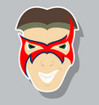 superhero in action superhero character icon in vector image