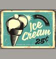 vintage ice cream vector image