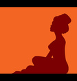 woman in turban silhouette vector image