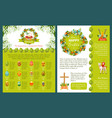 easter greetings template for banner card design vector image