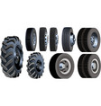 truck wheels set vector image