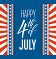 fourth of july celebration banner greeting card vector image