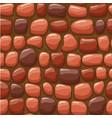 cartoon red stone texture seamless vector image