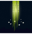 Glowworms flying around the lamp vector image
