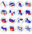 set of political buttons vector image