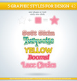 Graphic styles can be use for decor text title vector image