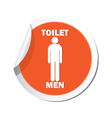 Map pointer with restroom icon man vector image