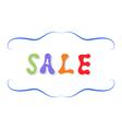 Inscription sale colorful letters vector image