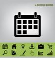 calendar sign black icon at vector image