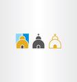 church icon set vector image