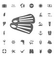 diving flippers icon on a white background vector image