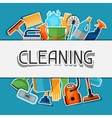 Housekeeping background with cleaning sticker vector image