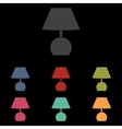 Lamp icon on black vector image