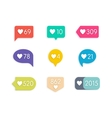 Like Counter Icons vector image