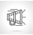 Megaphone black line icon vector image