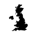 UK map vector image