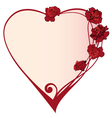 valentine frame with roses vector image vector image
