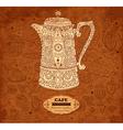 Pattern menu for cafe vector image